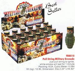Pull String Military Grenade